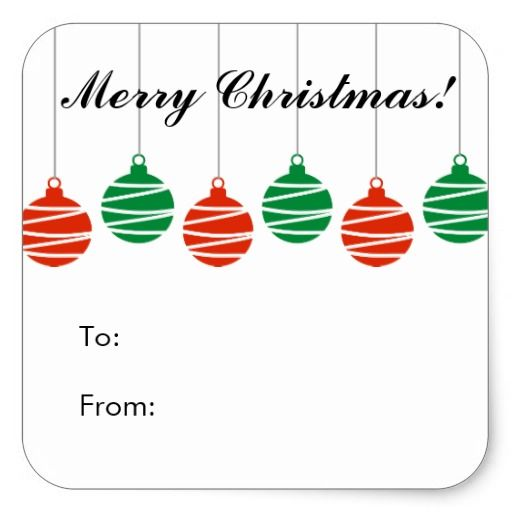 Custom christmas to and from gift tag stickers