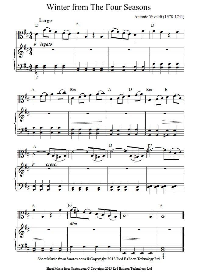 vivaldi four seasons piano sheet music pdf