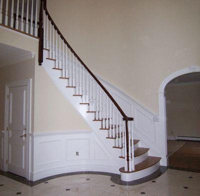 curved stair trim detail