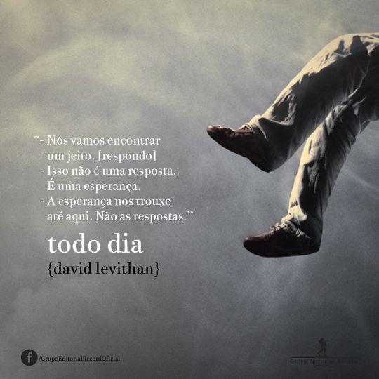 Livro De David Levithan Livro Todo Dia David Levithan David