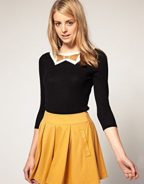 Sweater with Metallic Bow Tie. I have a similar one but I WANT!