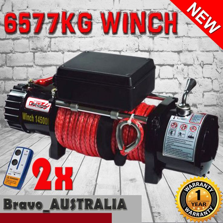 12V Electric Winch 26M 14500LBS Dyneema Rope 6577KG Wireless Remote 4WD Boat ATV
