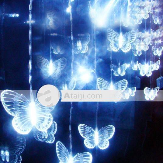 Beautiful farfalla vacanze Lights String decorazioni esterne Lampade a LED