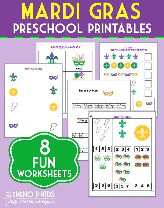 Mardi Gras printables for kids!