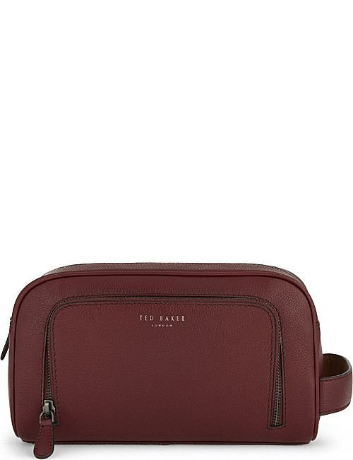 cc6fc1780868 TED BAKER Onyahed leather wash bag
