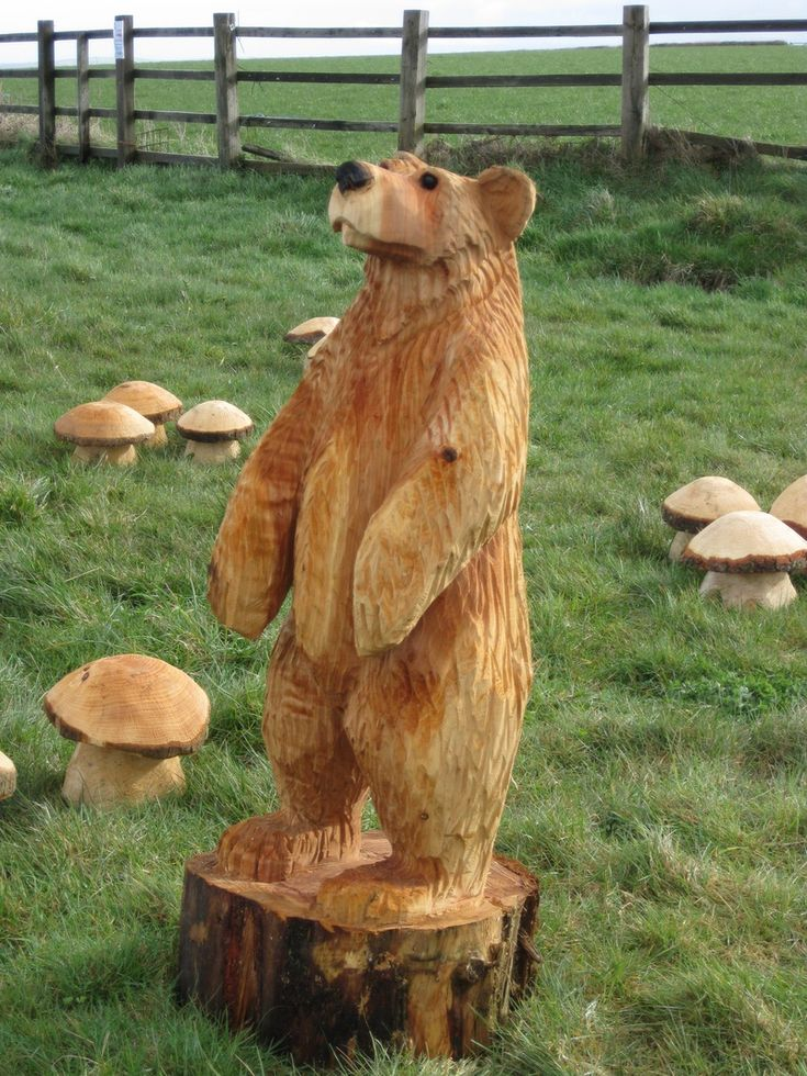 Bear chainsaw carving ideas pinterest