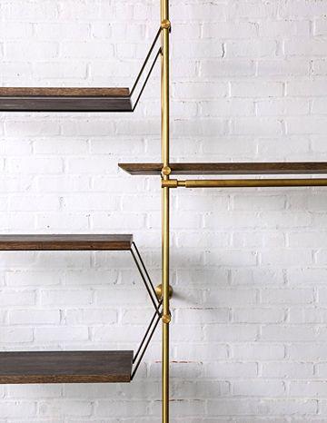 The Collector's Shelving System options include: Hanging Strap Shelf Support, Posting Strap Shelf Support, Knife Edge Detail, LED Light Bar . Amuneal