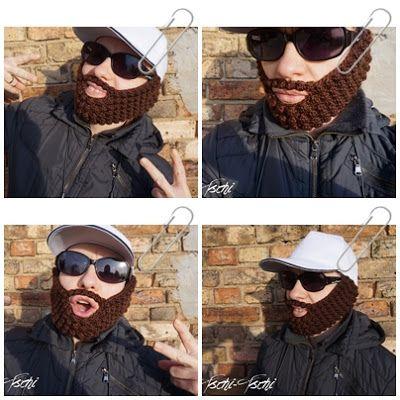 Frau Tschi-Tschi: Hipster Bart häkeln Freebie - crochet pattern free - Häkelanleitung kostenlos