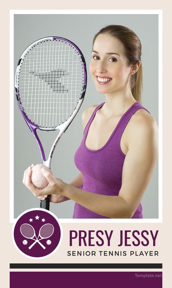 34 Trading Card Templates Doc Pdf Psd Eps Lawn Tennis Tennis Best Tennis Rackets