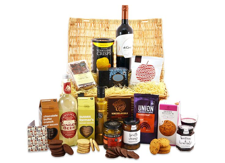 13 best our hampers in wicker images on pinterest gift baskets gluten free feast with an award winning handmade fruitcake superb sweet and savoury biscuits a box of the finest handmade caramel and sea salt milk negle Gallery
