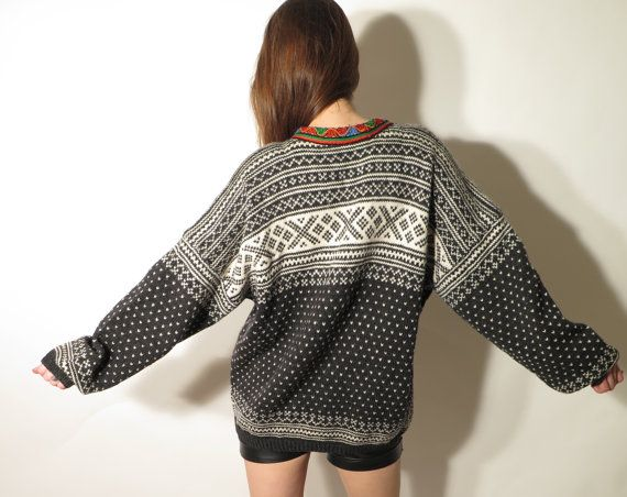 Vintage Men's Norwegian Wool Sweater XL by JustGiza on Etsy