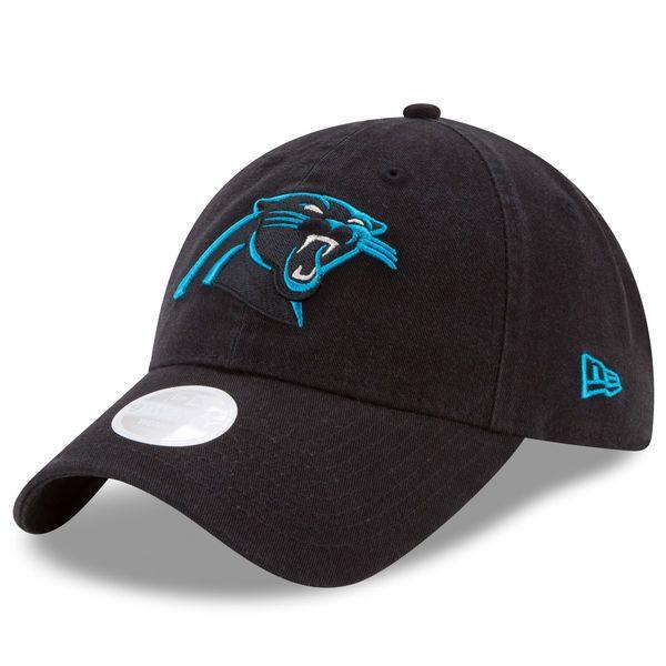 Women's Carolina Panthers New Era Black Preferred Pick Secondary 9TWENTY Adjustable Hat