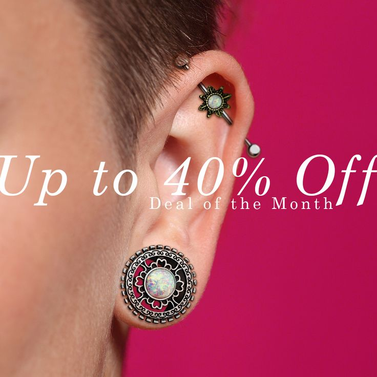 ⚡️UP TO 40% OFF⚡️ Offer expires January 31, 2018, Midnight PST.  Our low prices have been cut even lower.  Specially selected items are available at http://www.hollywoodbodyjewelry.com/c/wholesale-body-jewelry/sale/  Wholesale Only. ✈Ships Worldwide  #sale #deal #bodyjewelry #jewelry #piercing #piercings #pierced #piercer #safepiercing #bellyring #bellybuttonring #nipplepiercing #industrial #tunnels #plugs #stretchedears #girlswithpiercing #girlwithpiercing #love #pink #bodypiercing #opal