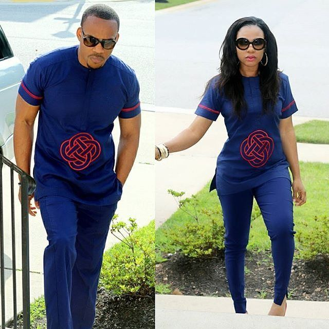 Double swag matching outfits by @tyntyfashions_tntfashions #tradlook #smart #couple #forpreweddingsesions #style #loveit