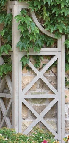 wrap around an outside corner of the house for climbing vines