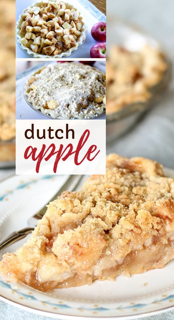 Einfache hausgemachte holländische Apfelkuchen Rezept mit Tortenfüllung Tutorial und Crumble Top …   – Desserts
