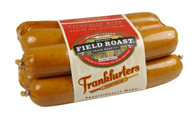 Field Roast's Vegan Frankfurters -- VegNews. Meat-substitute brand Field Roast has mastered the art of the vegan frankfurter, devising dogs that are juicy, flavorful, and ready for a slathering of mustard, a coating of grilled onions, or a dash of relish. We went crazy for these wonder wieners at the VNHQ, opting to enjoy them with sauerkraut and chipotle-flavored vegan mayo. We bet that even your omni friends won't be able to tell the difference.