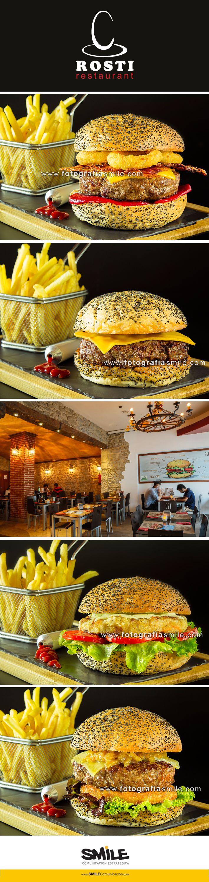 Fotografía de hamburguesas caseras gourmet | Homemade gourmet burger restaurant | Client: www.rosti.cat | Date: 2014