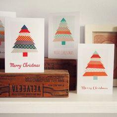 DIY好き必見】たった1日でできる世界でたった一つの手作りクリスマス ... 幅やデザインの違うマスキングテープを使って、