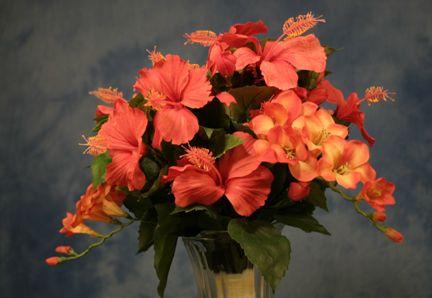 Tropical Hibiscus flower Wedding Bouquet