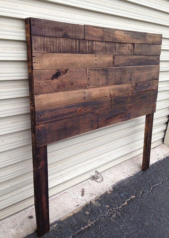 Pallet headboard dark walnut sale twin full queen king for Recycled headboards