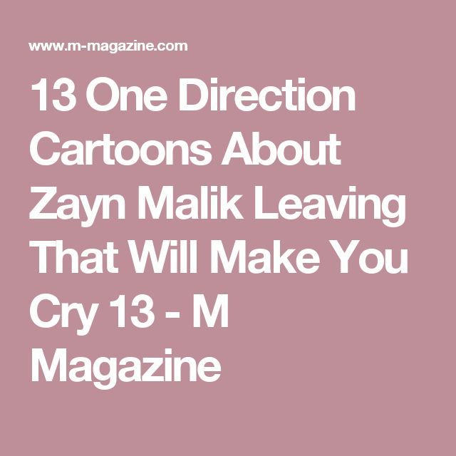 13 One Direction Cartoons About Zayn Malik Leaving That Will Make You Cry 13 - M Magazine