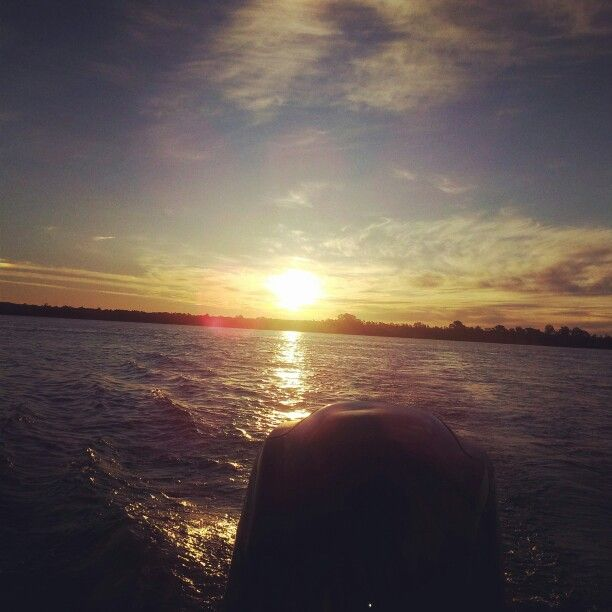 #boat #sunset #peace