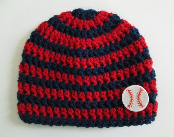 Cleveland Indians Baby Beanie by Sadie's Cottage