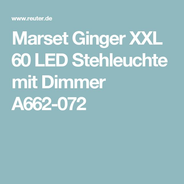 Marset Ginger XXL 60 LED Stehleuchte mit Dimmer A662-072