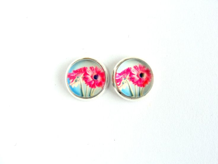 Flowers #4 Stud Earrings by CarolinePrecjoza on Etsy
