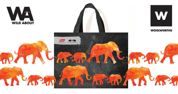 Get the new Wild About Elephants reusable bag at Woolworths and carry-a-cause!  http://bags4good.org.za/wild-about-elephants