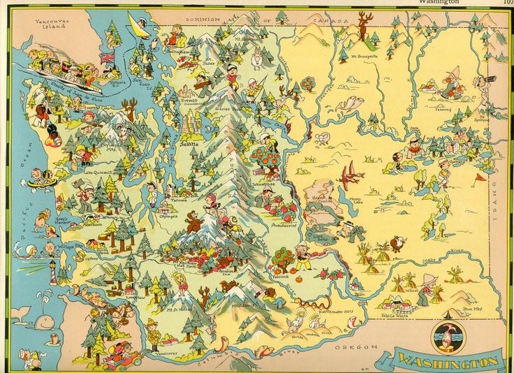 Best Washington Map Ideas On Pinterest - United states travel map