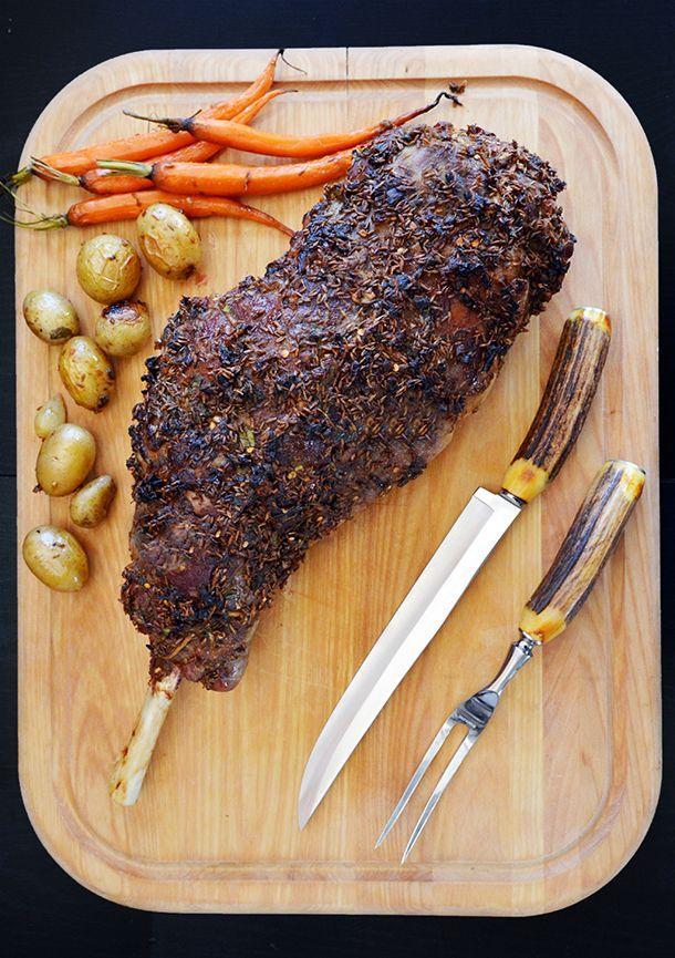 Cumin-Crusted Goat Leg #recipe