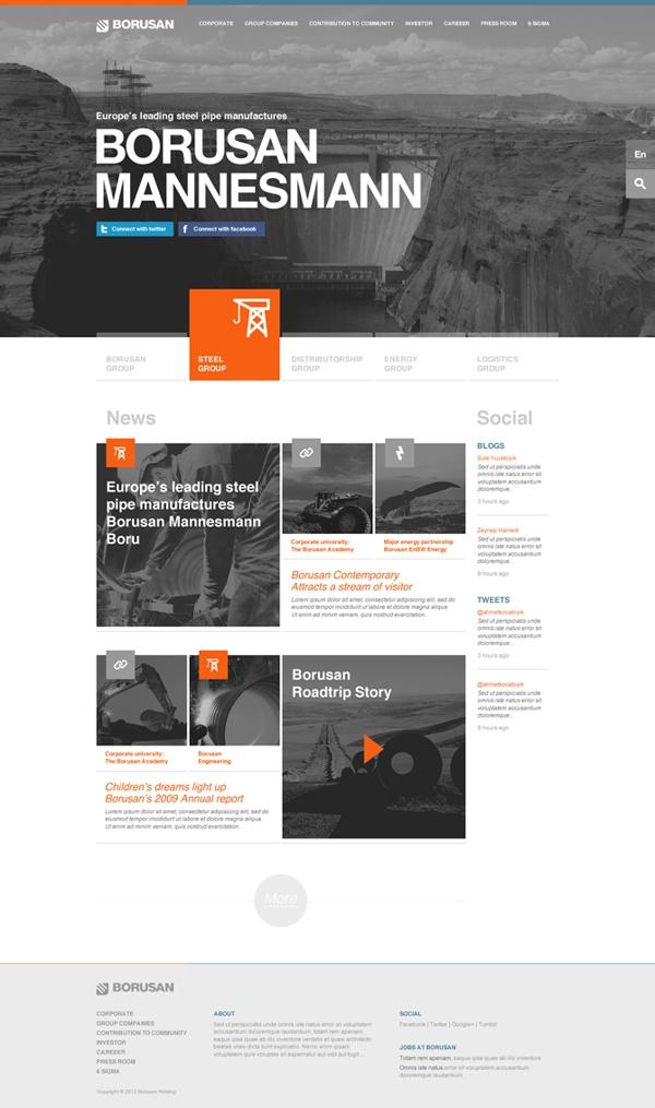 BORUSAN by Taygun Kurtulus, via #Behance #Webdesign
