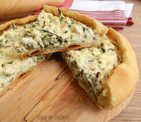 Torta salata di asparagi e ricotta