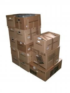 Top 5 Places to Get CHEAP Moving Boxes   Oh My Apartment   When purchasing new boxes, I've consistently found that the U-Haul Store prices are cheaper than the Budget Store.