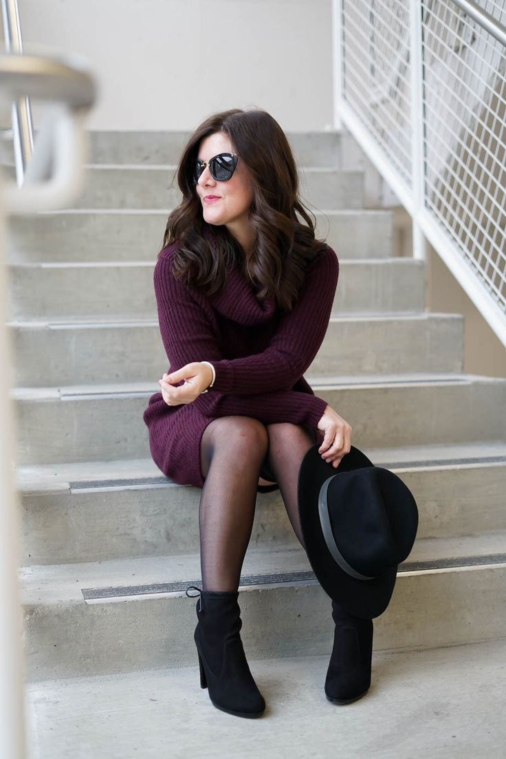 Burgundy Sweater Dress, Winter style, stuart weitzman booties, miu miu sunglasses, A Lily Love Affair, chicago blogger