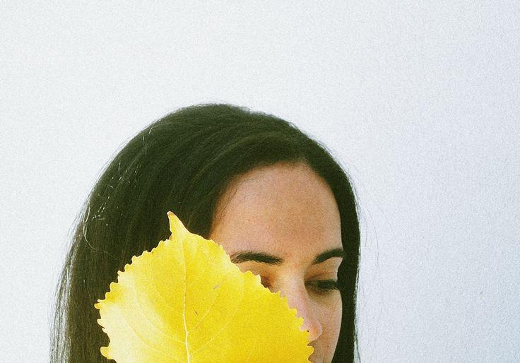 Woman leafFollow my flickr