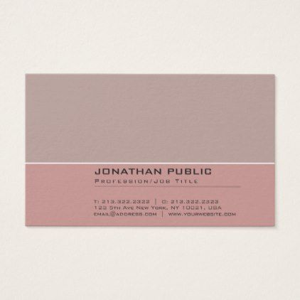 Elegant Vintage Colors Harmony Professional Plain Business Card - makeup artist business customize diy