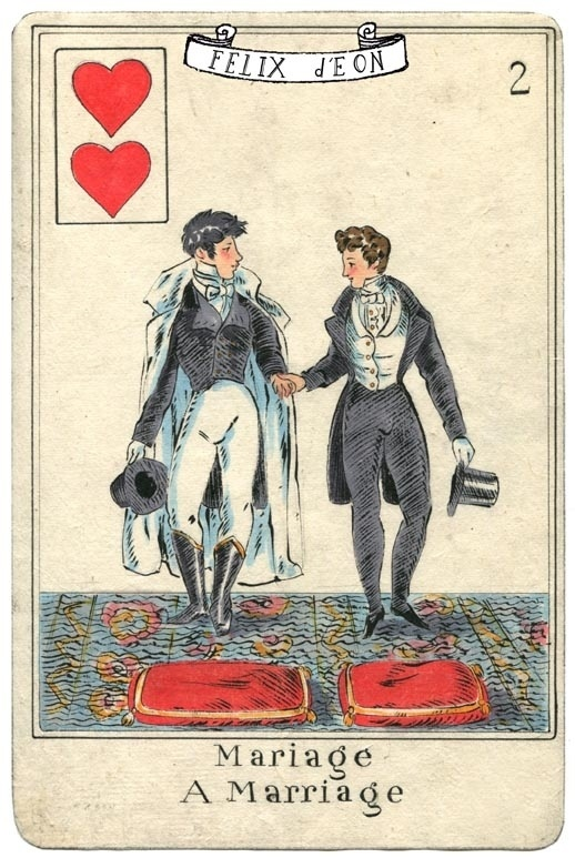 """""""Mariage"""" Regency-style Playing Card Art By San Francisco"""
