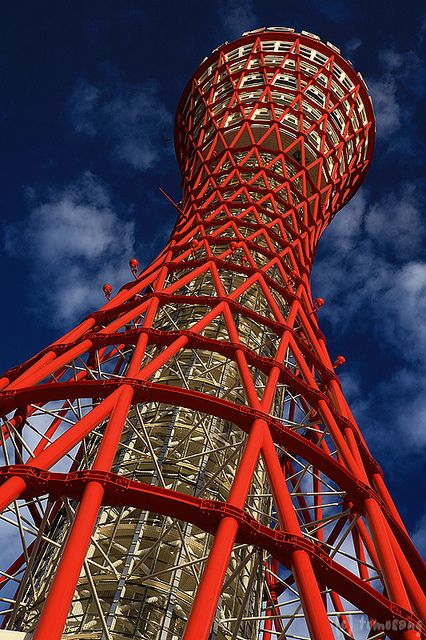 Kobe Port Tower, Japan.108 m,  inauguration 21 Nov 1963.  Astrogeographical Position: the male fire sign Aries main indicator of phallic forms and towers together with the air sign Aquarius the sign of the sky and archetypal indicator for skyscrapers. Valid for radius/field level 3.