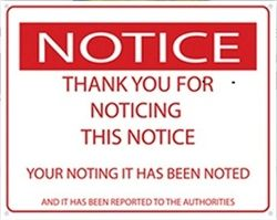 Hang With Posters and Signs - Thanks For Noticing This Notice - College Humor Tin Sign - Cool Dorm Decor