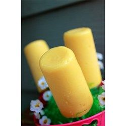 A frozen dessert fit for a king or your kids, this is a banana and peanut butter frozen pudding pop.