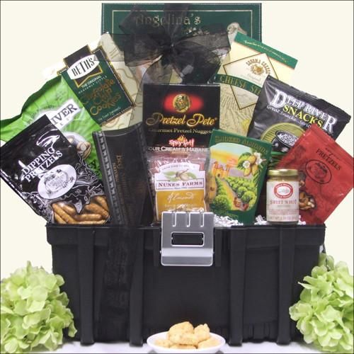 Toolbox Filled with Gifts for the Guys Send the ''handyman'' this unique Tool Box gift basket because there's always something to work on around the house! Includes a delicious gourmet assortment of s                                                                                                                                                                                 More