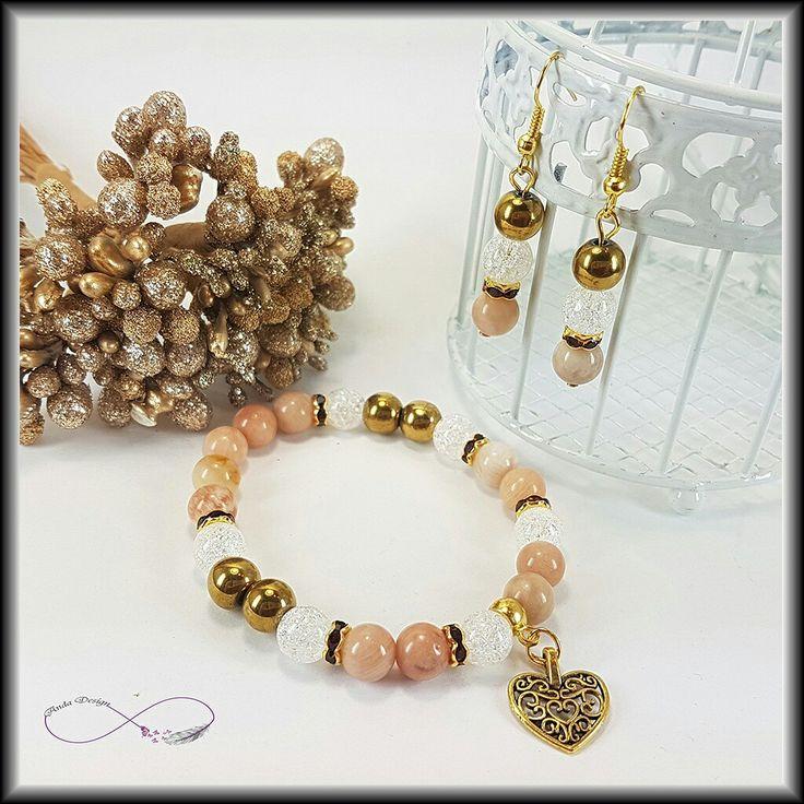 Moonstone, hematite, crystal, bracelet, gamestone, jewerly