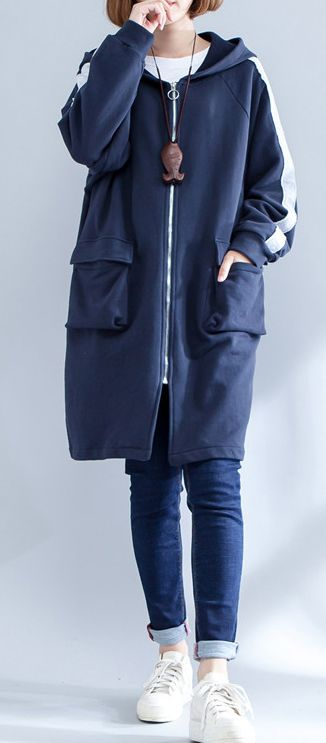 autumn-navy-casual-sport-coat-cotton-slim-fit-zippered-outwear