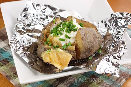 "Crock Pot ""Baked"" Potatoes | Skinnytaste"
