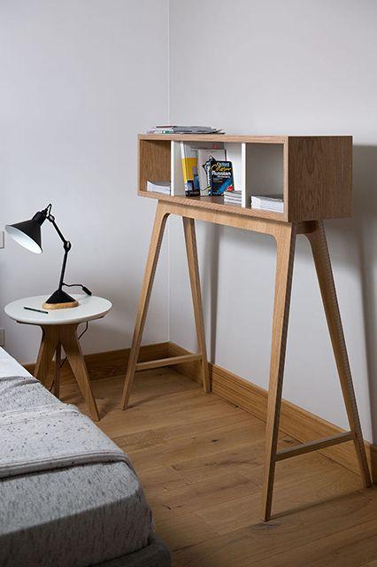 Interesting ! I always love wood furnishtures // How To Make An All-Neutral Design Palette Work #refinery29 http://www.refinery29.com/design-milk/9#slide13