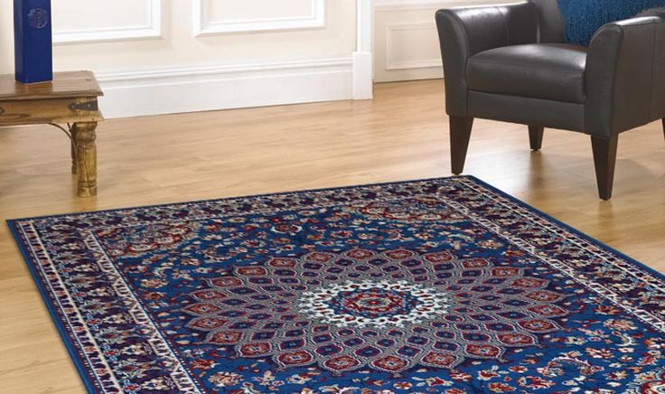 Tappeto disegno persiano azzurro