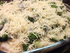 Eva's Smulhuisje: Ovenschotel met gehakt, broccoli, aardappelschijfjes en bechamelsaus